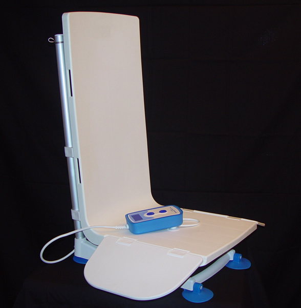 minivator 303 bath lift, bath lifts for totally handicapped, bath lifts for the elderly, archimedes bath lift