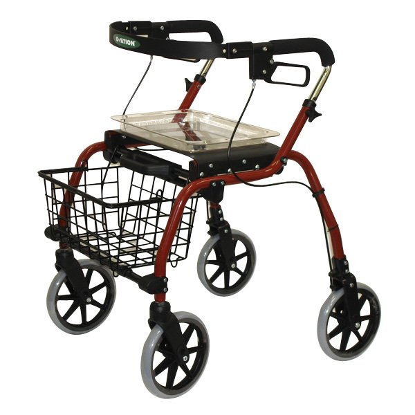 drive rollator model r726, medline rollator walker parts, three wheeled rollators, deluxe aluminum rollator black