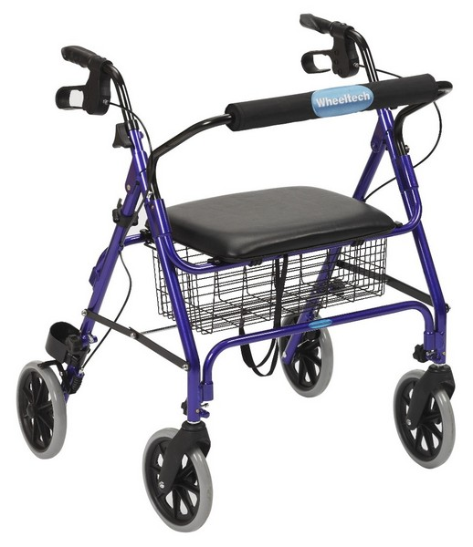 four wheel rollator with padded seat, hugo rollator, bay rollator whell chair, hugo rollators