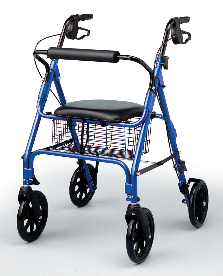 deluxe aluminum rollator black, medline ultra-light rollator, three-wheel rollator, rollators and rolling walkers