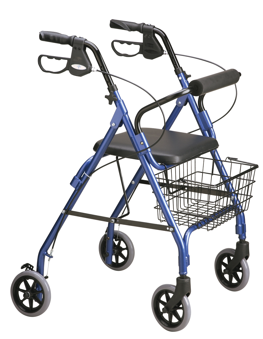 duty rollator, wide rollators with seat, three-wheeled rollators, drive duet transport chair rollator