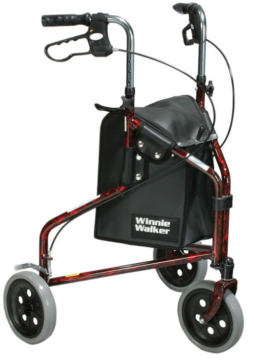 drive winnie walker mini lite aluminum rollator, three-wheeled rollators, bay rollator whell chair, rollator w1700