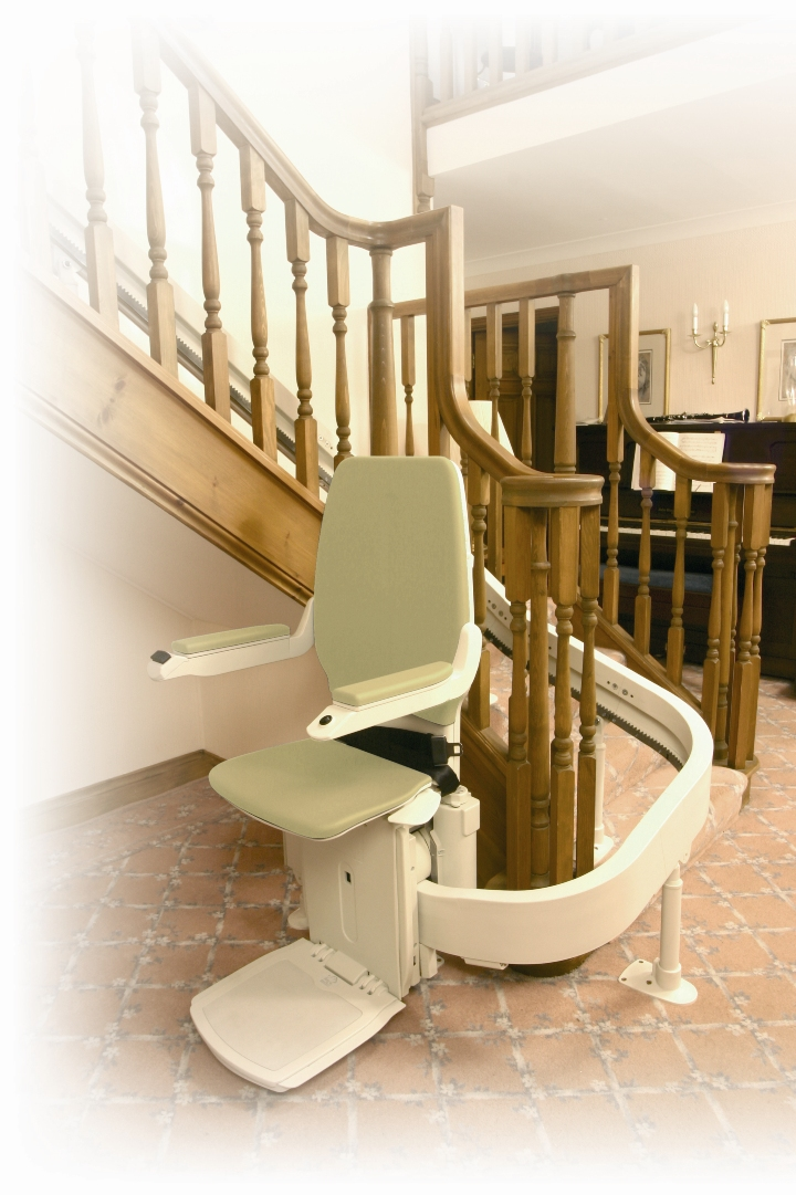 Wheelchair assistance stairlifts prices for Motorized stair chair lift