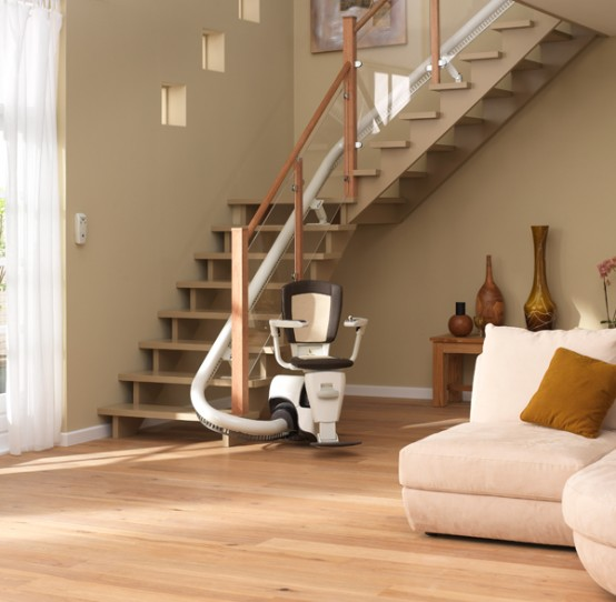 Wheelchair assistance power stair lift for Motorized stair chair lift