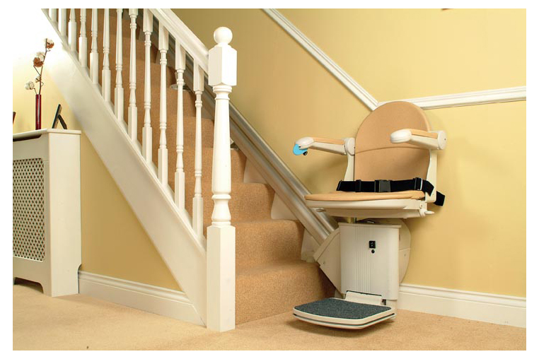 home stair lift, home stair lifts, bruno curved stair lift, stair chair lift providers in cincinnati ohio