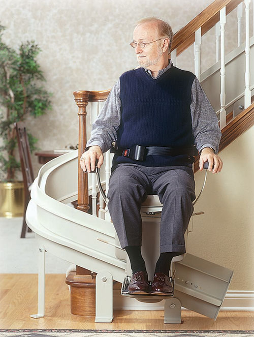 Wheelchair assistance stairlifts rental for Motorized stair chair lift