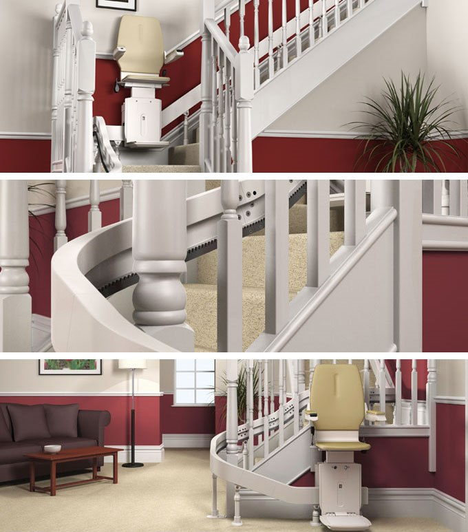inclined stair lifts, inclined stair lifts, stairlift service, pennsylvania stair lifts