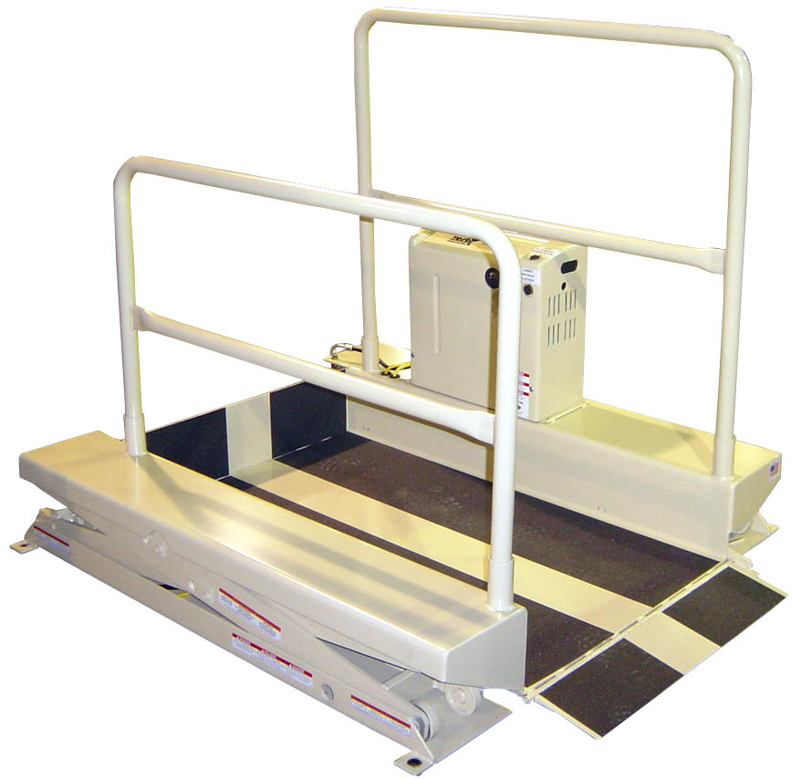 power wheelchair lift, overhead wheelchair lift, authorized power wheelchair lift dealer, passenger with wheelchair lift