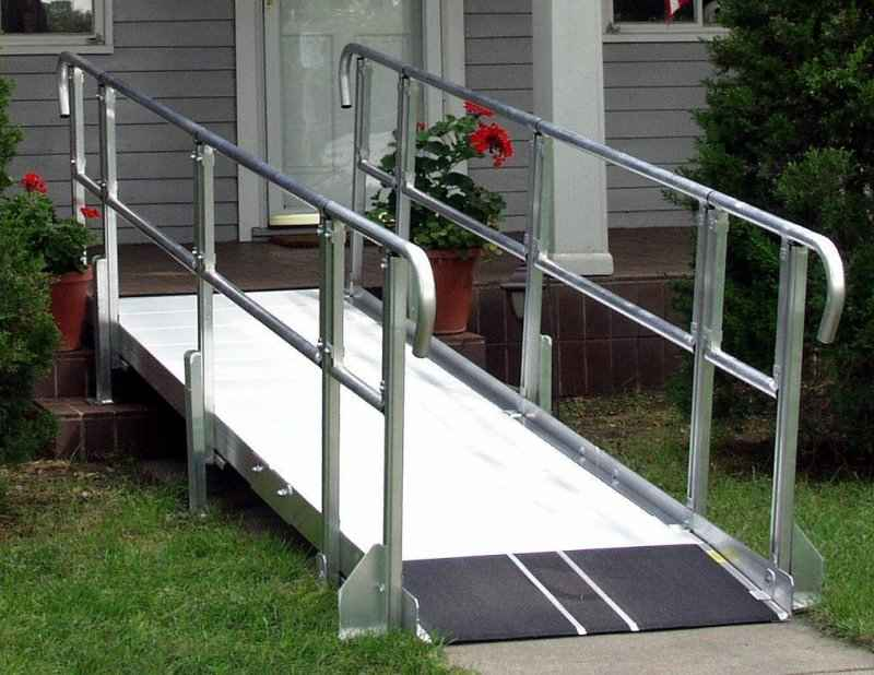 What's the recommended angle for a wheelchair ramp